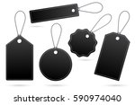 set of black price tags with... | Shutterstock .eps vector #590974040