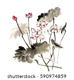 chinese style drawings ...   Shutterstock . vector #590974859