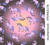 pattern of unicorn. | Shutterstock .eps vector #590983178