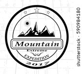 the mountain expedition logo | Shutterstock .eps vector #590984180