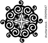 hand drawn decorative design... | Shutterstock .eps vector #59099047
