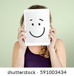 face expressions illustrations... | Shutterstock . vector #591003434