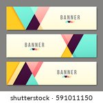 set of banner templates. bright ... | Shutterstock .eps vector #591011150