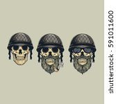 Skull Helmet Germany Vector...