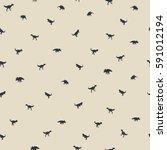 seamless dinosaur pattern... | Shutterstock .eps vector #591012194