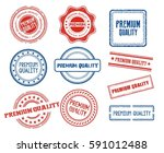 set of various premium quality... | Shutterstock .eps vector #591012488