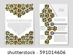 abstract vector layout... | Shutterstock .eps vector #591014606