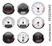 car dashboard gauges set.... | Shutterstock . vector #591025643