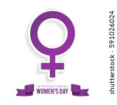 happy women's day 8 march... | Shutterstock .eps vector #591026024