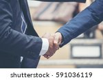 businessman shake hand deal... | Shutterstock . vector #591036119