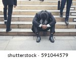 Small photo of Unemployed Jobless People Crisis who Recession, Stress and lose job. Despair office People feel Stressful in depress situation. Middle aged people despair low economic crisis.Stressed Jobless Concept