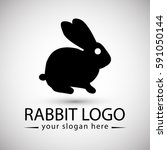 rabbit logo minimalist with...   Shutterstock .eps vector #591050144