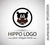 hippopotamus logo minimalist...   Shutterstock .eps vector #591050204
