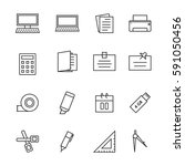 icon office  vector | Shutterstock .eps vector #591050456