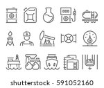 oil and petrol industry objects.... | Shutterstock .eps vector #591052160