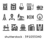 oil and petrol industry objects.... | Shutterstock .eps vector #591055340