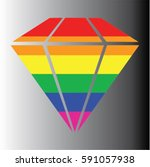 diamond gay icon vector | Shutterstock .eps vector #591057938