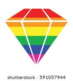 diamond gay icon vector | Shutterstock .eps vector #591057944