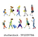 vector illustration of people... | Shutterstock .eps vector #591059786