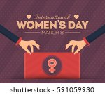 8 march international women's... | Shutterstock .eps vector #591059930
