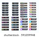 vector buttons big set ... | Shutterstock .eps vector #591059948