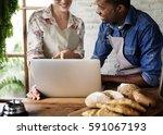 couple partnership the... | Shutterstock . vector #591067193