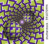 optical illusion illustration.... | Shutterstock .eps vector #591070994