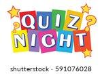 quiz night banner | Shutterstock .eps vector #591076028