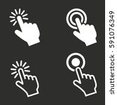 touch vector icons set. white... | Shutterstock .eps vector #591076349