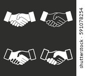 handshake vector icons set.... | Shutterstock .eps vector #591078254