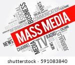 mass media word cloud collage ... | Shutterstock .eps vector #591083840