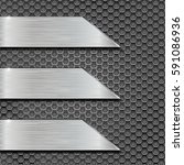 metal perforated background... | Shutterstock .eps vector #591086936