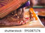 hindu wedding rituals with... | Shutterstock . vector #591087176