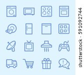 home appliance web icons set | Shutterstock .eps vector #591092744