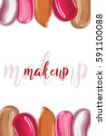 cosmetic liquid foundation and... | Shutterstock .eps vector #591100088