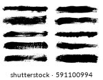 vector brush strokes.hand... | Shutterstock .eps vector #591100994
