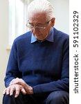 senior man suffering with...   Shutterstock . vector #591102329