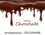 seamless dripping chocolate... | Shutterstock .eps vector #591104498