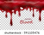 seamless dripping blood... | Shutterstock .eps vector #591105476