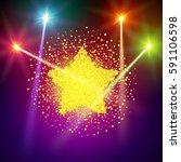golden star vector banner on... | Shutterstock .eps vector #591106598