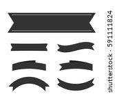 black ribbon banners set.... | Shutterstock .eps vector #591111824