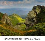 beautiful landscape of summer...   Shutterstock . vector #591127628