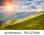 beautiful landscape of summer...   Shutterstock . vector #591127658