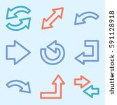 arrows mobile icon  next step... | Shutterstock .eps vector #591128918