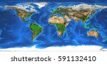 detailed satellite view of the... | Shutterstock . vector #591132410