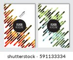 flyer layout template. vector... | Shutterstock .eps vector #591133334