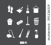 cleaning icons | Shutterstock .eps vector #591136319