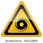 hurricane warning sign | Shutterstock . vector #59113894