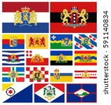 flags of provinces of the... | Shutterstock . vector #591140834