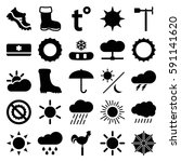 Weather Icons Set. Set Of 25...